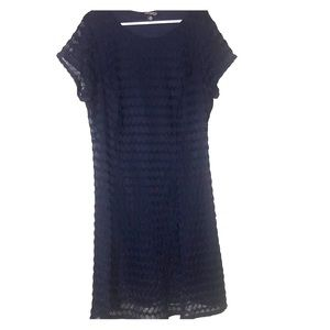 Sharagano Navy blue lace dress
